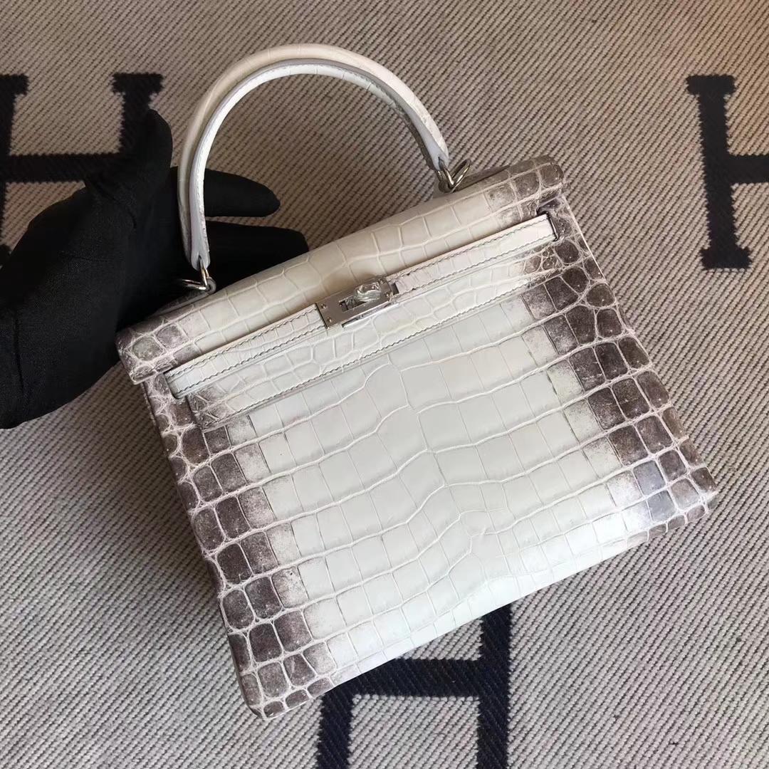 Hermès(爱马仕)小可爱 Kelly25cm Himalaya 喜马拉雅 银扣