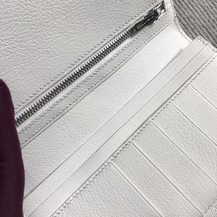 Hermès(爱马仕)新款 钱包钱夹H扣纯白