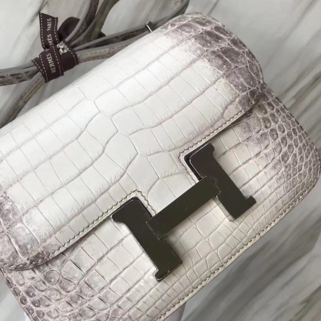 Hermès(爱马仕)Constance空姐包 Himalaya 喜马拉雅 银扣 包中皇后 顶级手缝 18cm 现货