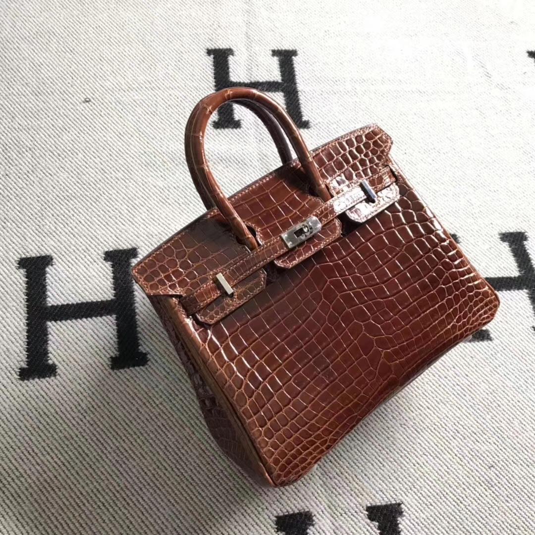 Hermès(爱马仕)极品Birkin铂金包 金棕色 完善品质 银扣 25cm