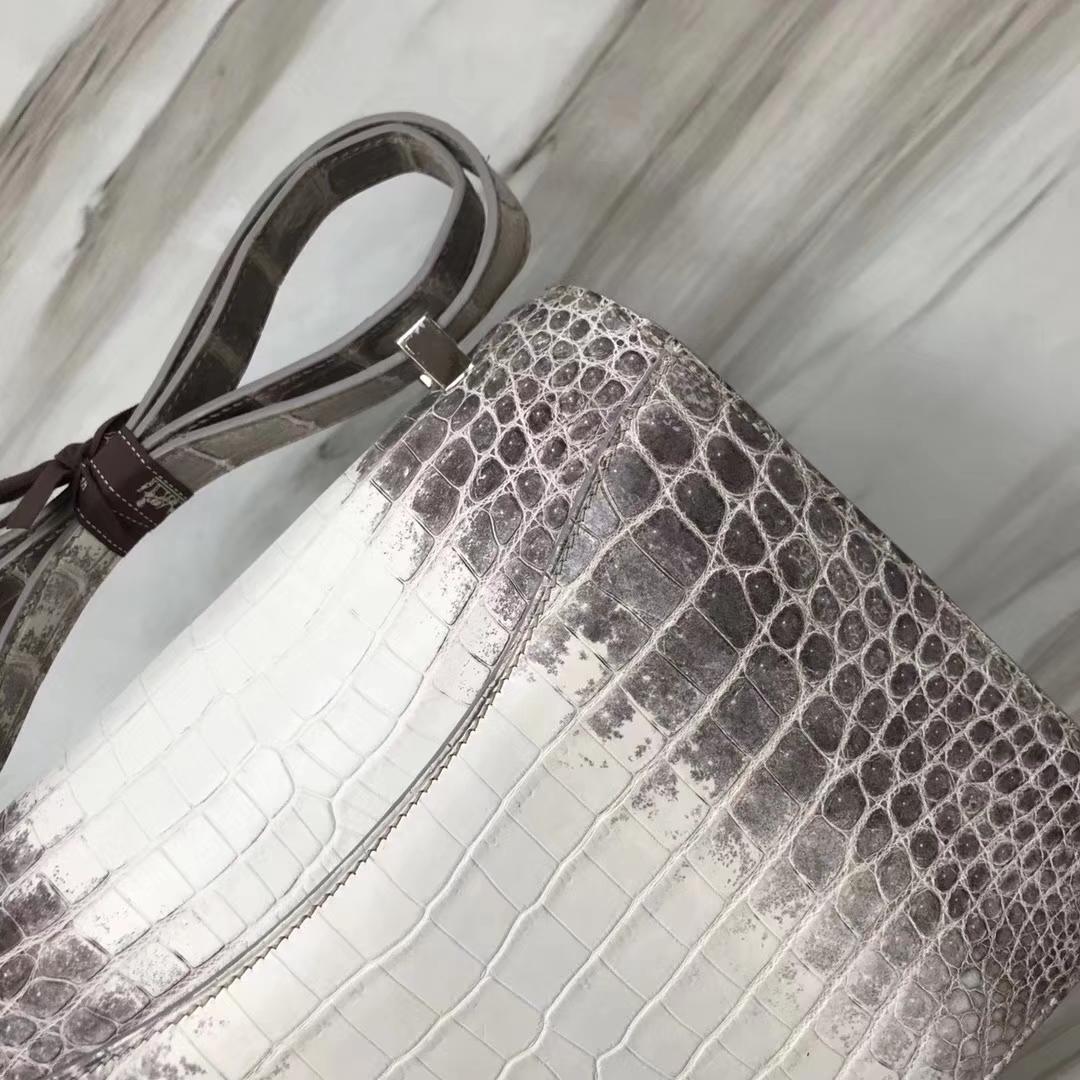 Hermès(爱马仕)Constance空姐包 Himalaya 喜马拉雅 银扣 包中皇后 品相完美 顶级现货 24cm