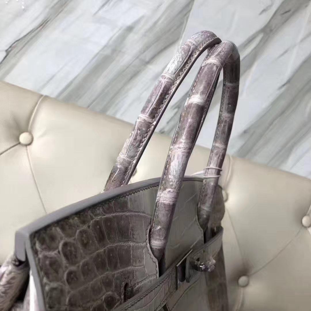 Hermès(爱马仕)Birkin 铂金包 Himalaya 喜马拉雅 银扣 包中皇后 顶级手缝 30cm 现货