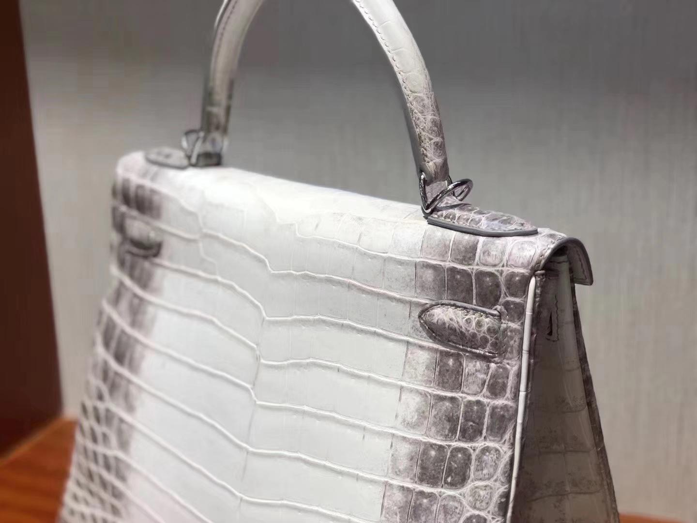 Hermès(爱马仕)Kelly 28cm Himalaya 喜马拉雅 包中皇后 终极梦想包 银扣 现货