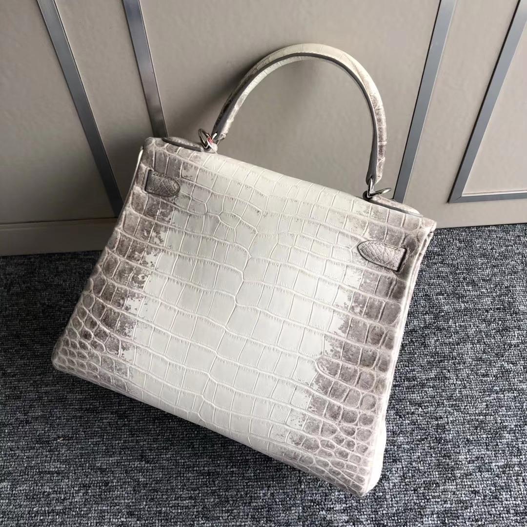 Hermès(爱马仕)Kelly 28cm Himalaya 喜马拉雅 银扣 顶级手缝 包中皇后 品相超美 现货