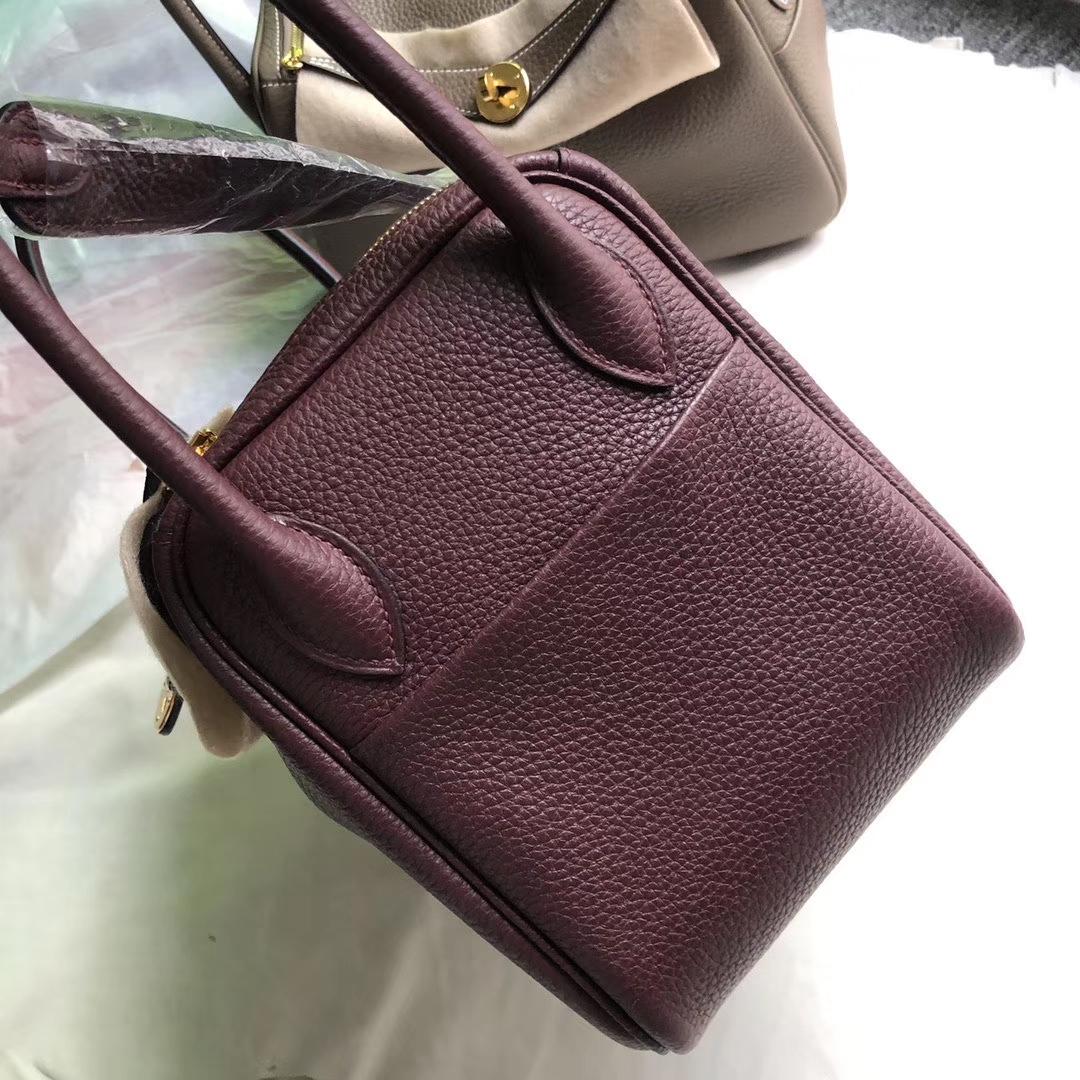 Hermès(爱马仕)Lindy 琳迪包 波尔多酒红 金扣 26cm