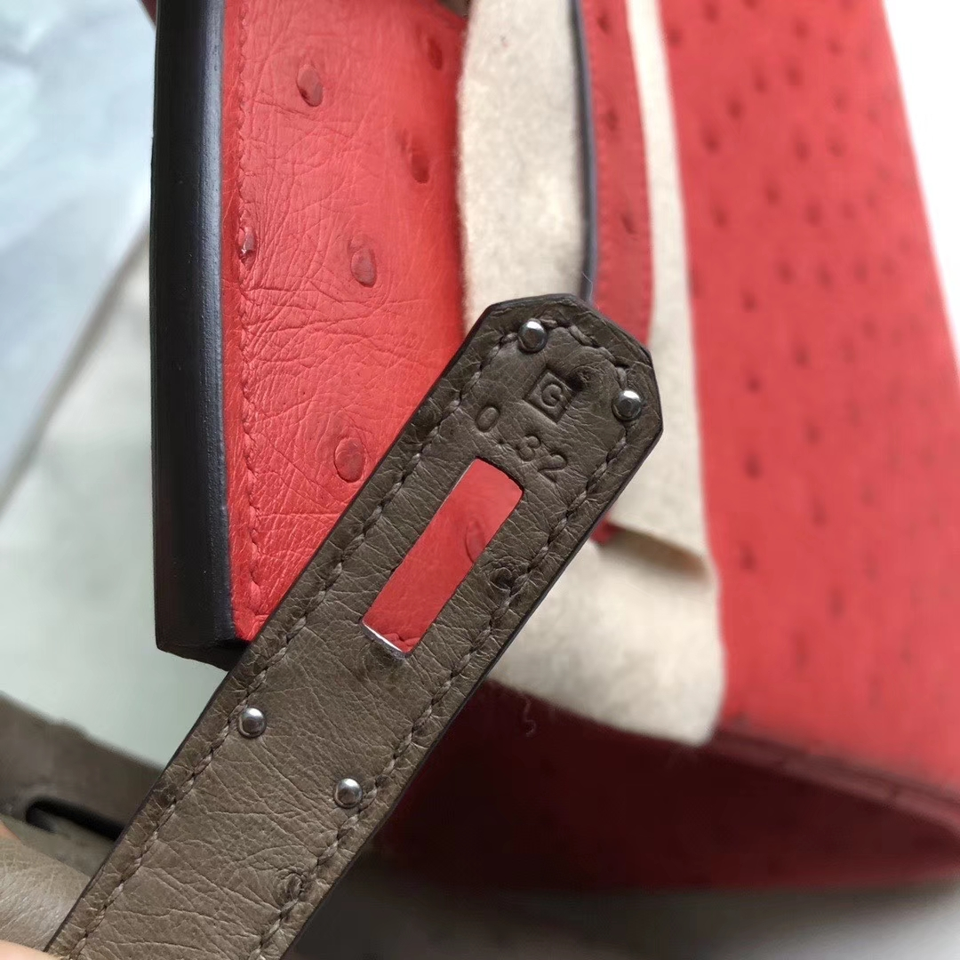 Hermès(爱马仕)Birkin 30cm Ostrich kk鸵鸟 ck18 大象灰 etoupe  银扣