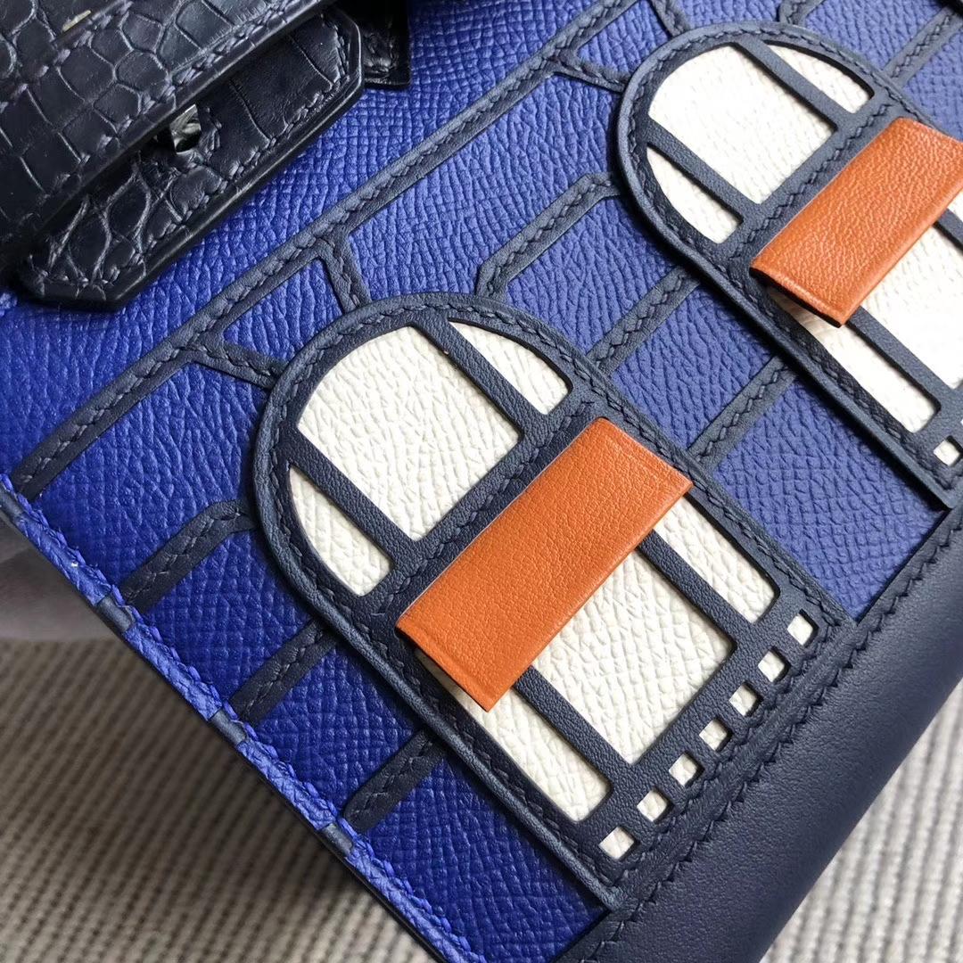 Hermès(爱马仕)Birkin 20cm 蓝色小房子 银扣 限量限量