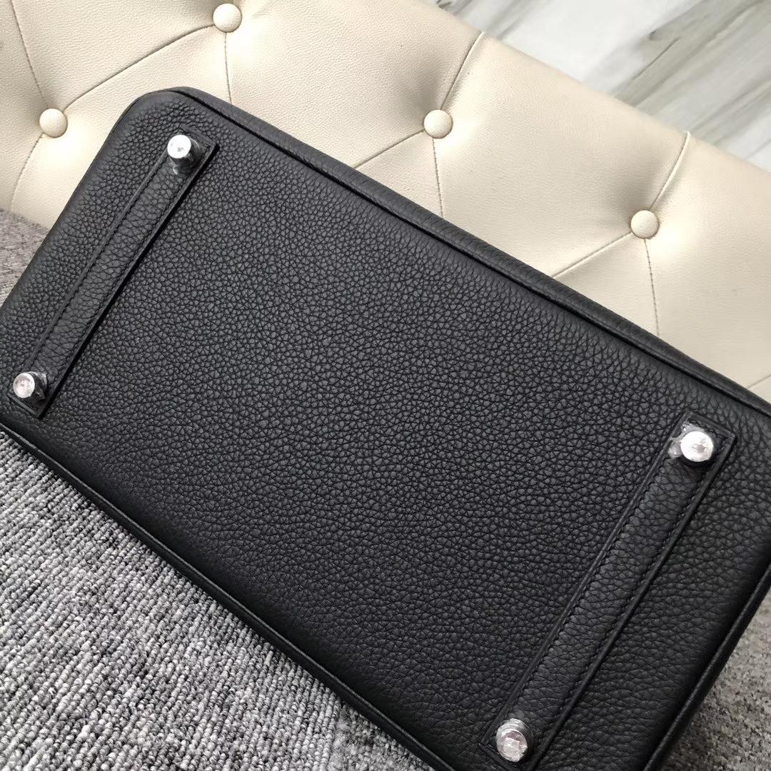 Hermès(爱马仕)Touch 系列 Birkin ck89 黑色 亮面鳄鱼 银扣 30cm 定制