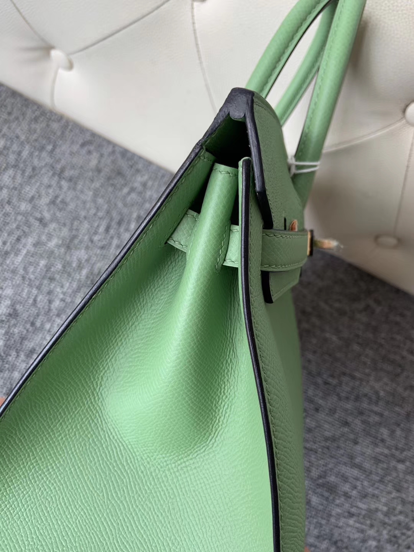Hermès(爱马仕)Birkin 30cm 原厂掌纹皮 Epsom 3i 牛油果绿 金扣 顶级手缝