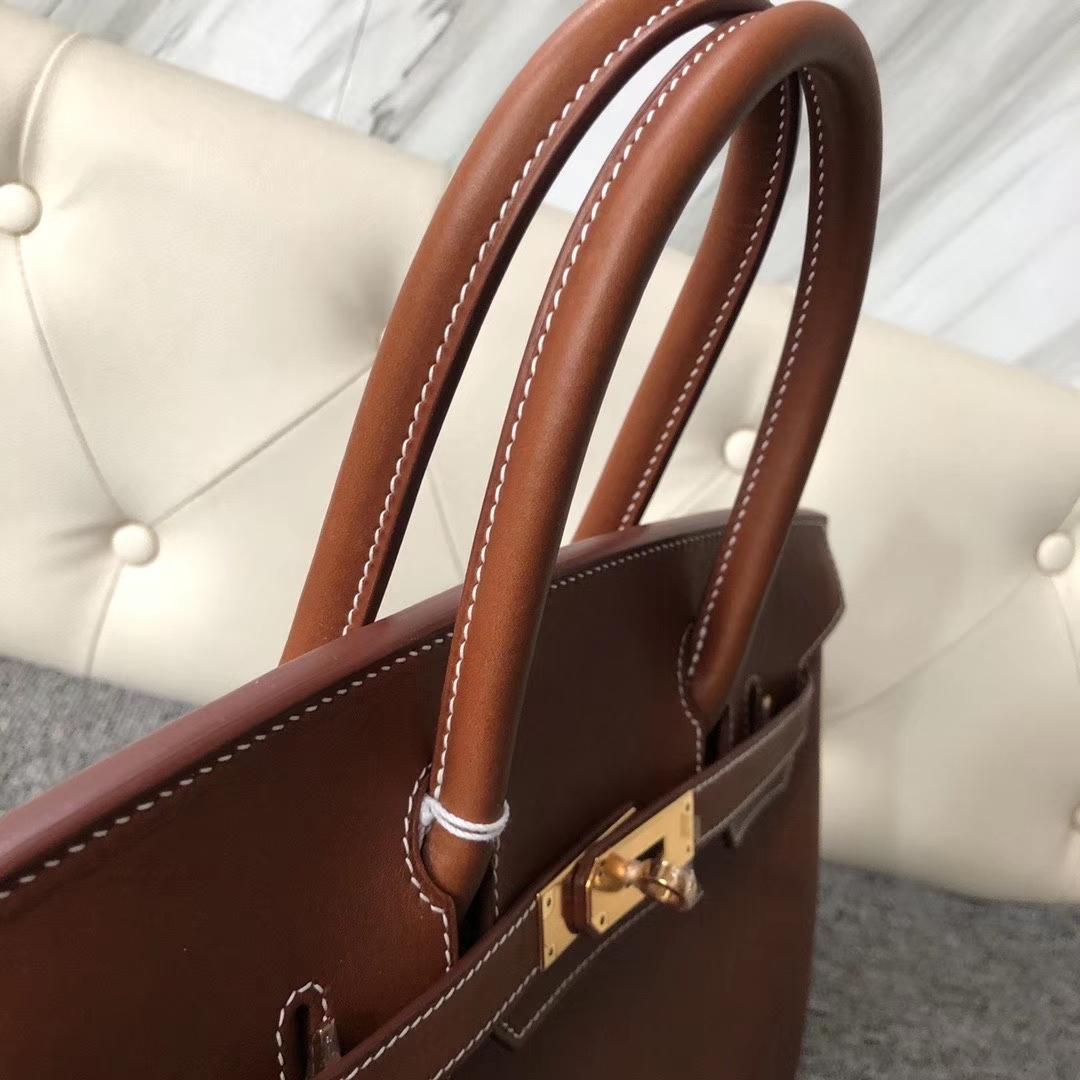Hermès(爱马仕)Birkin 30cm 马鞍皮 经典干邑原色 金棕色 金扣 原版五金 Y刻 定制