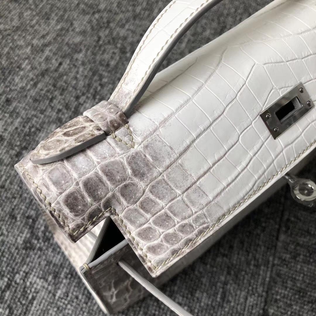 Hermès(爱马仕)Mini pochette 22cm 喜马拉雅 银扣 顶级手缝 手拿包 晚宴包 定制