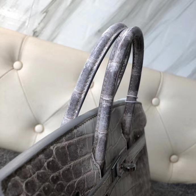 Hermès(爱马仕)Birkin 25cm Himalaya 喜马拉雅  银扣 顶级手缝 品相完美
