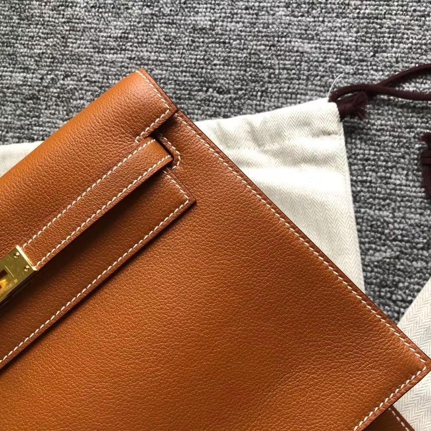 Hermès(爱马仕)kelly danse evecolor ck37 金棕色 Gold swift皮 金扣 顶级手缝