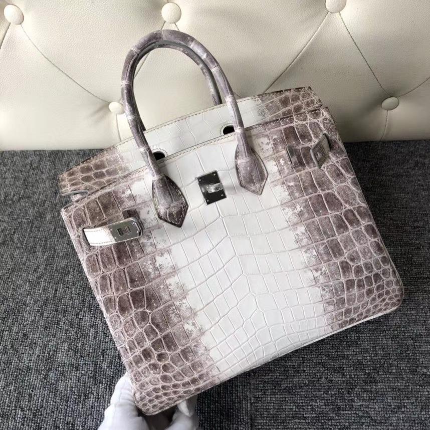 Hermès(爱马仕)Birkin 25cm Himalaya 喜马拉雅 银扣 顶级手缝 包中皇后 超美 品相完美