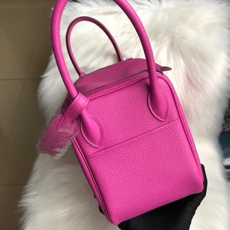 Hermès(爱马仕)Lindy 26cm Tc 皮  9i 玉兰粉 银扣 顶级手缝