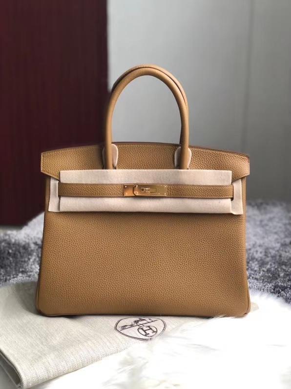 Hermès(爱马仕)Birkin 30cm 原厂小牛皮 togo U8 Bronze Dore 铜金色 金扣 秋冬新色