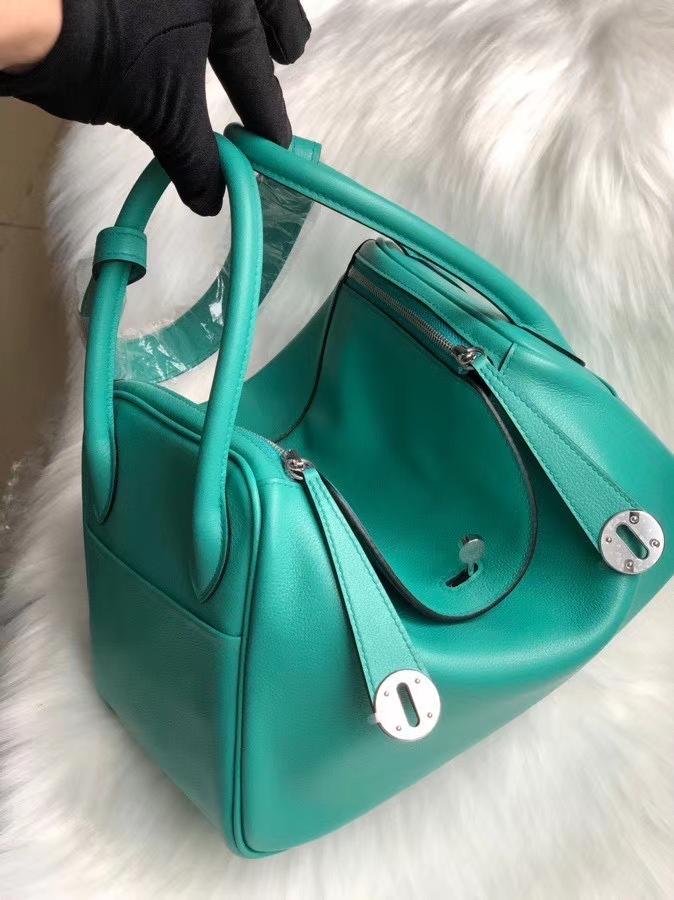 Hermès(爱马仕)Lindy 26cm Swift 7F 孔雀蓝🦚 银扣 顶级手缝 颜色好美