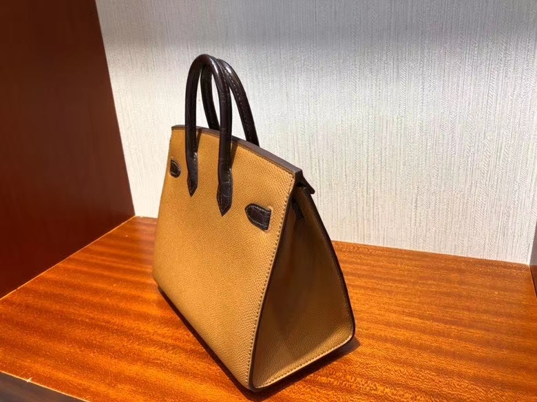 Hermès(爱马仕)Birkin 25cm 小房子 棕色 银扣 顶级手缝 现货