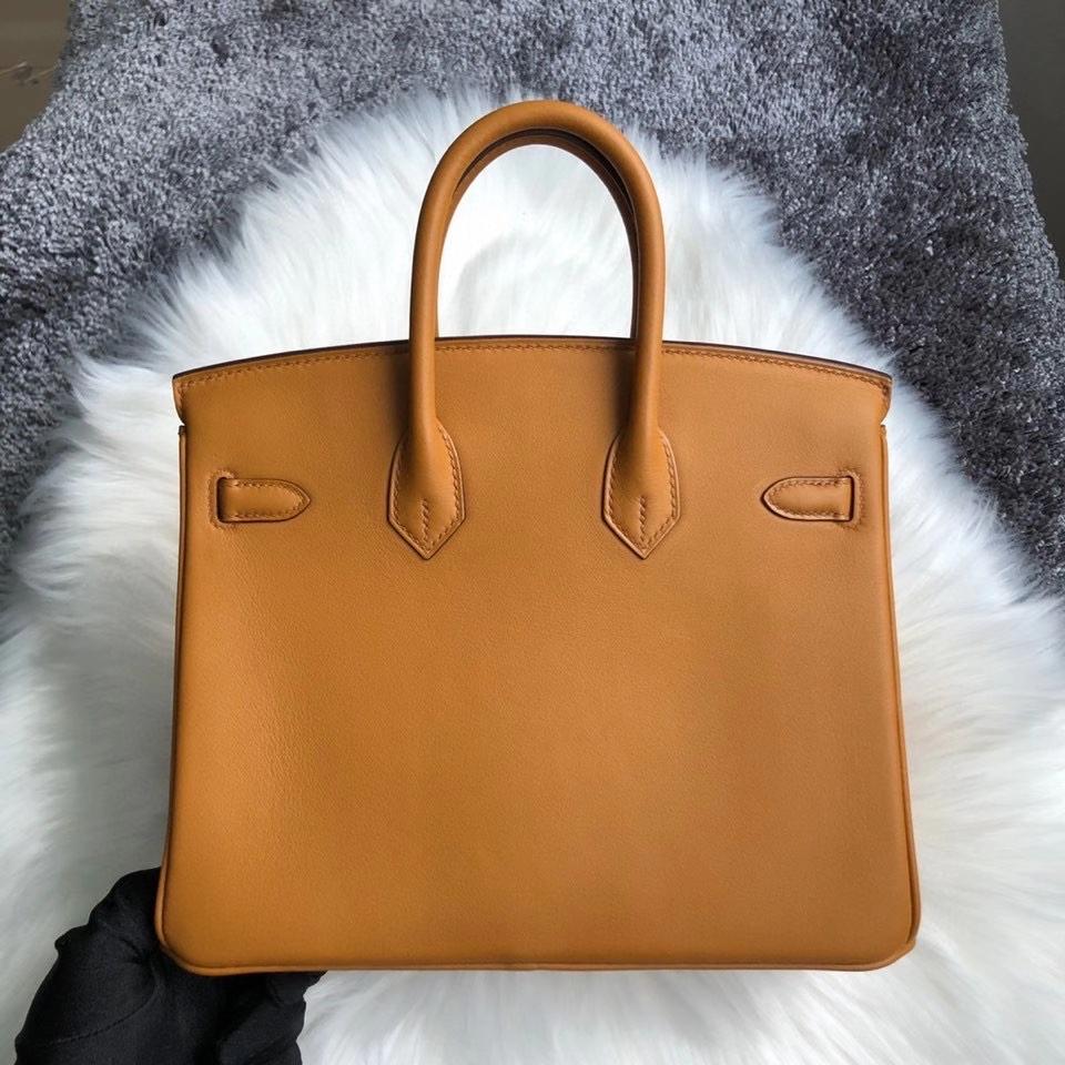 Hermès(爱马仕)Birkin 25cm Swift  2S 芝麻色 芝麻黄 金扣 顶级手缝 现货