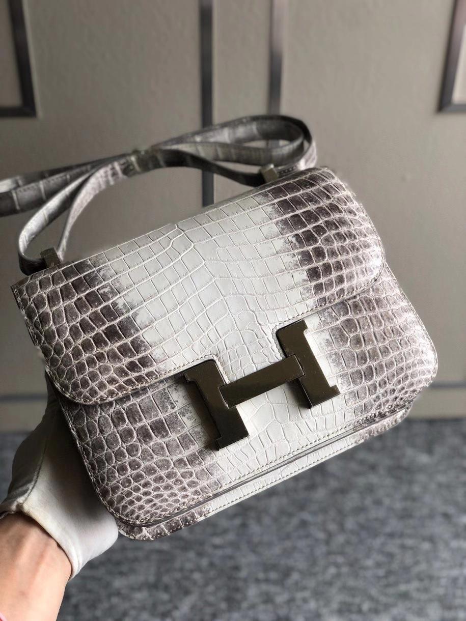 Hermès(爱马仕)Constance 24cm Himalaya 喜马拉雅 银扣 包中皇后 品相超美 顶级手缝  现货