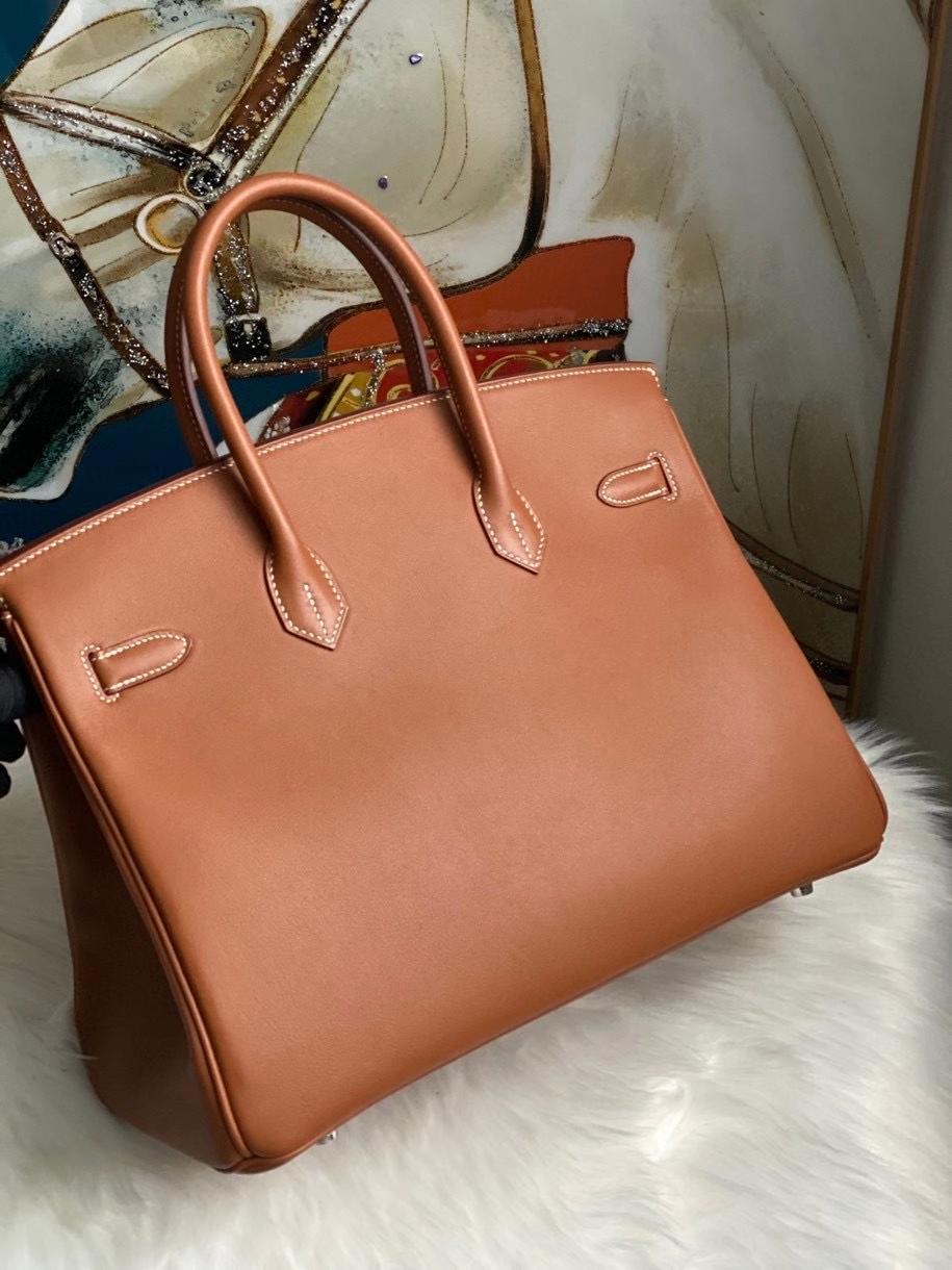 Hermès(爱马仕)Birkin 35cm Swift  ck37 金棕色 Gold 银扣 顶级手缝