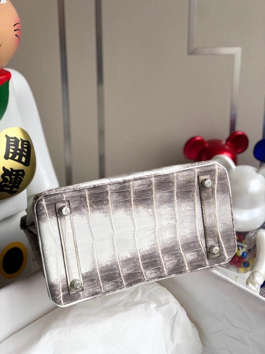 Hermès(爱马仕)Birkin 25cm Himalaya 喜马拉雅 银扣 顶级手缝 包中皇后