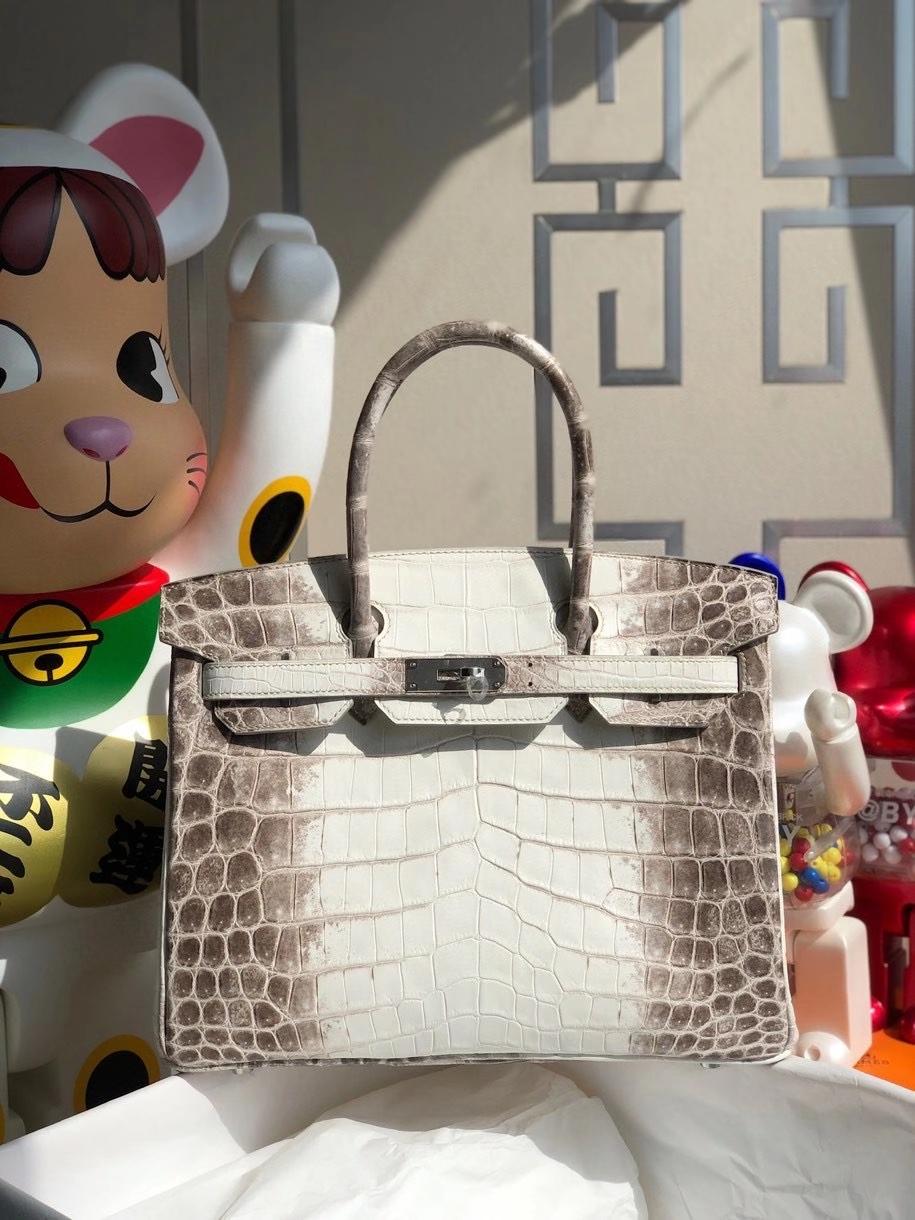 Hermès(爱马仕)Birkin 30cm Himalaya 喜马拉雅 包中皇后 银扣 顶级手缝  品相完美 现货