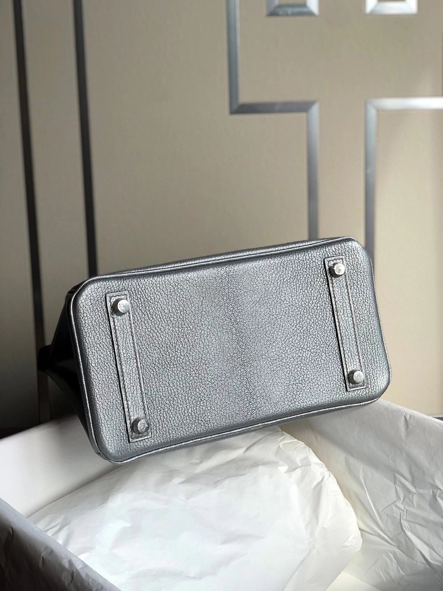 Hermès(爱马仕)Birkin 25cm 银色 银扣 限量一枚 现货