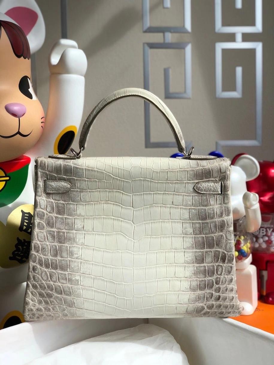 Hermès(爱马仕)Kelly 32cm Himalaya 喜马拉雅 银扣 顶级手缝 现货