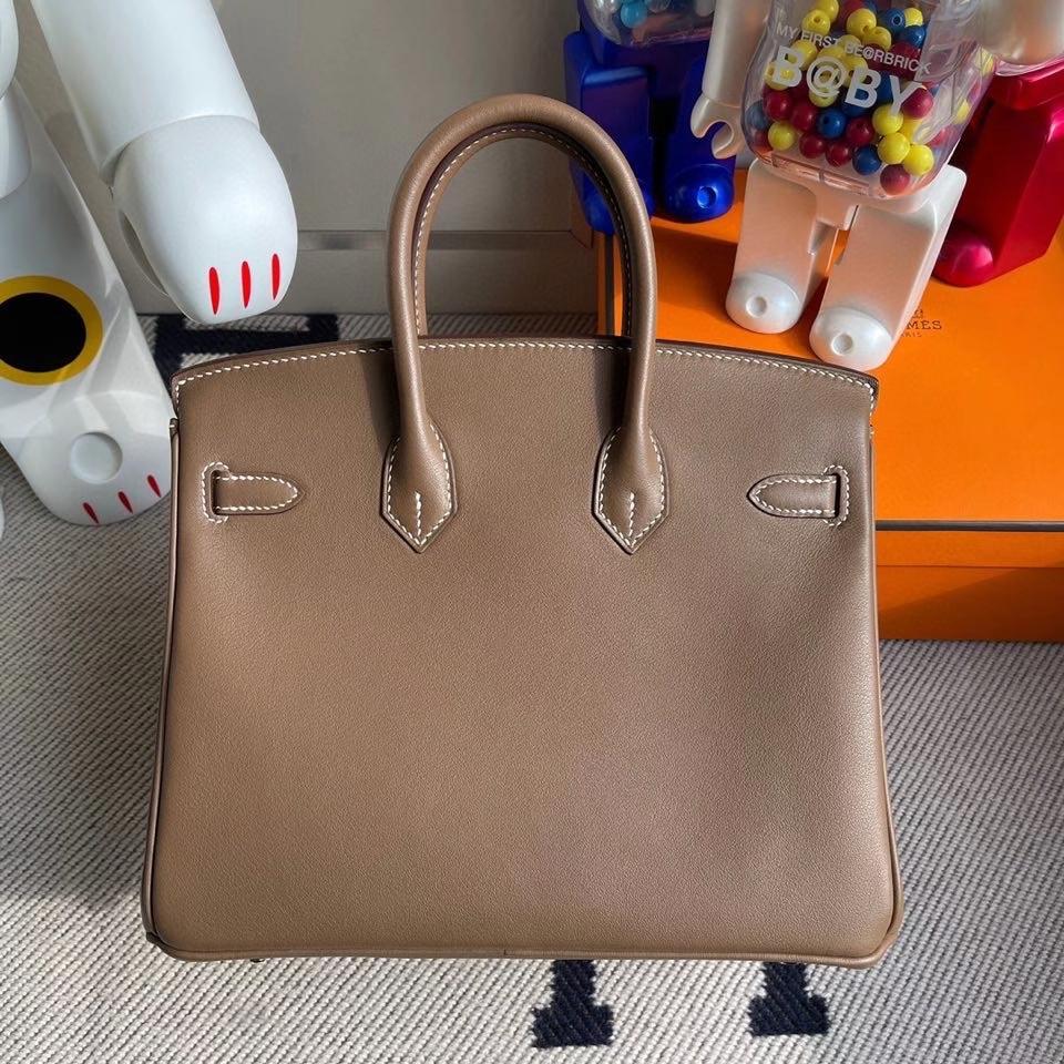 Hermès(爱马仕)Birkin 25cm Swift  ck18 大象灰Etoupe 银扣 顶级手缝 现货