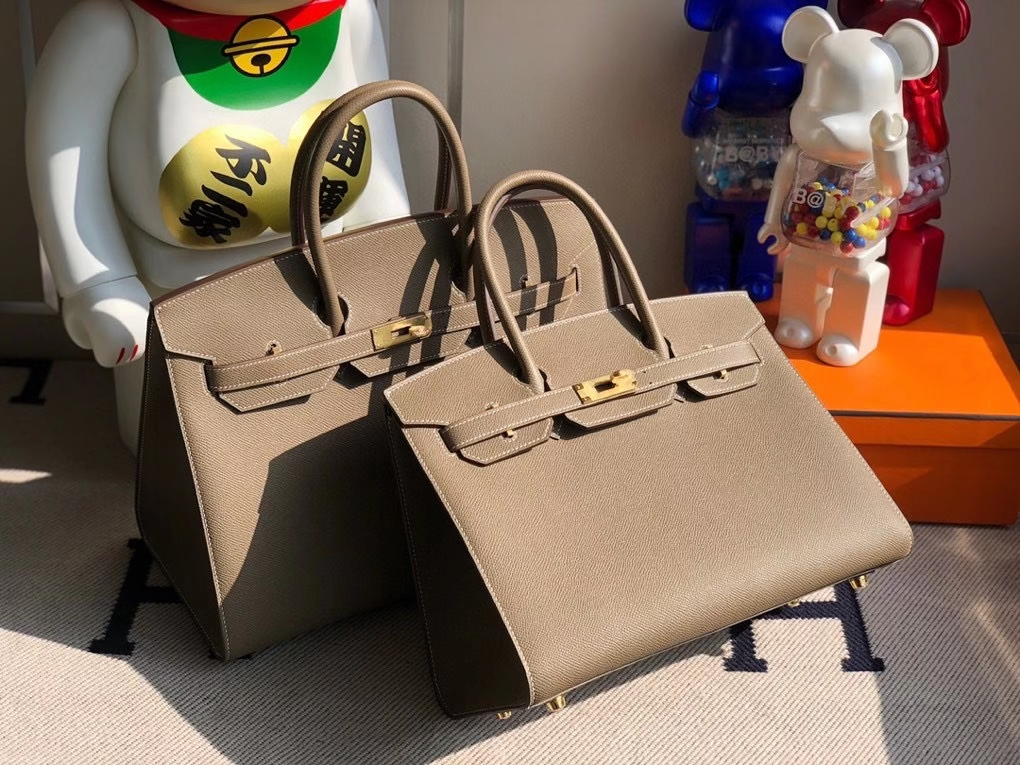 Hermès(爱马仕)Birkin 30cm Epsom 原厂掌纹皮 外缝 ck18大象灰 etoupe 金扣 顶级手缝 定制