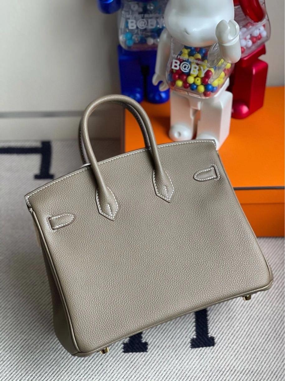 Hermès(爱马仕)Birkin 25cm 原厂小牛皮 togo ck18 大象灰 Etoupe 金扣 顶级手缝 现货