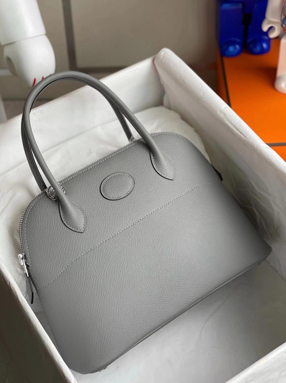 Hermès(爱马仕)Bolide 27cm Epsom 4Z海鸥灰 顶级工艺 全手工缝制 银扣