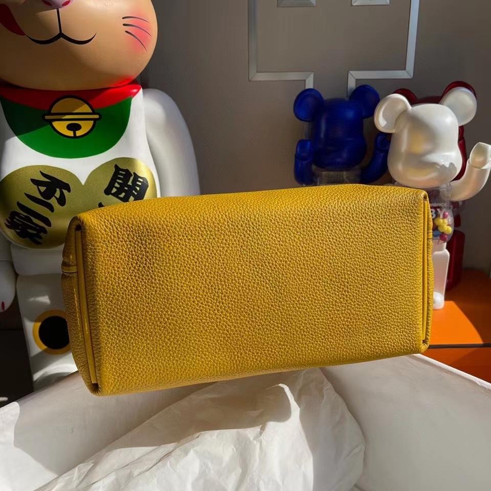 Hermès(爱马仕)2424 29cm 9D琥珀黄 Ambre 金扣 顶级手缝 现货
