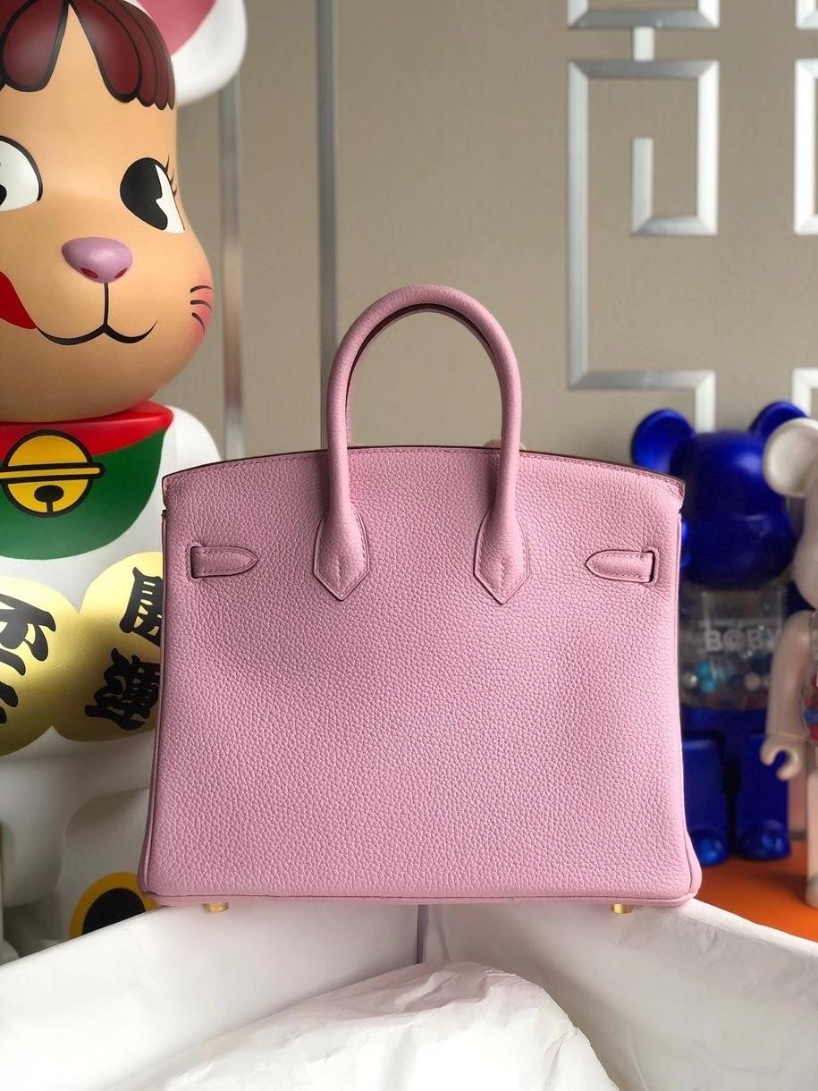 Hermès(爱马仕)Birkin 25cm 原厂小牛皮  X9 锦葵紫 金扣 顶级手缝 现货