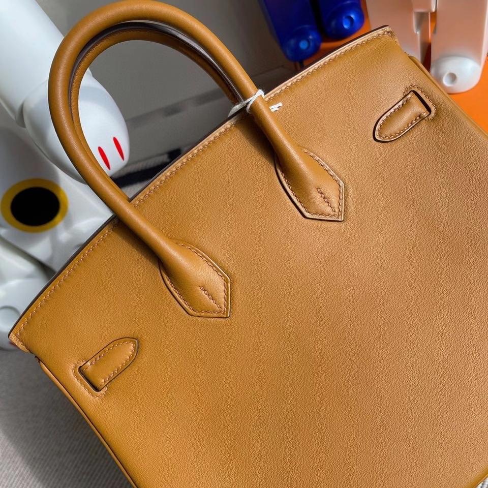 Hermès(爱马仕)Birkin 25cm Swift  S2 芝麻色 Sesame 金扣 顶级手缝 现货
