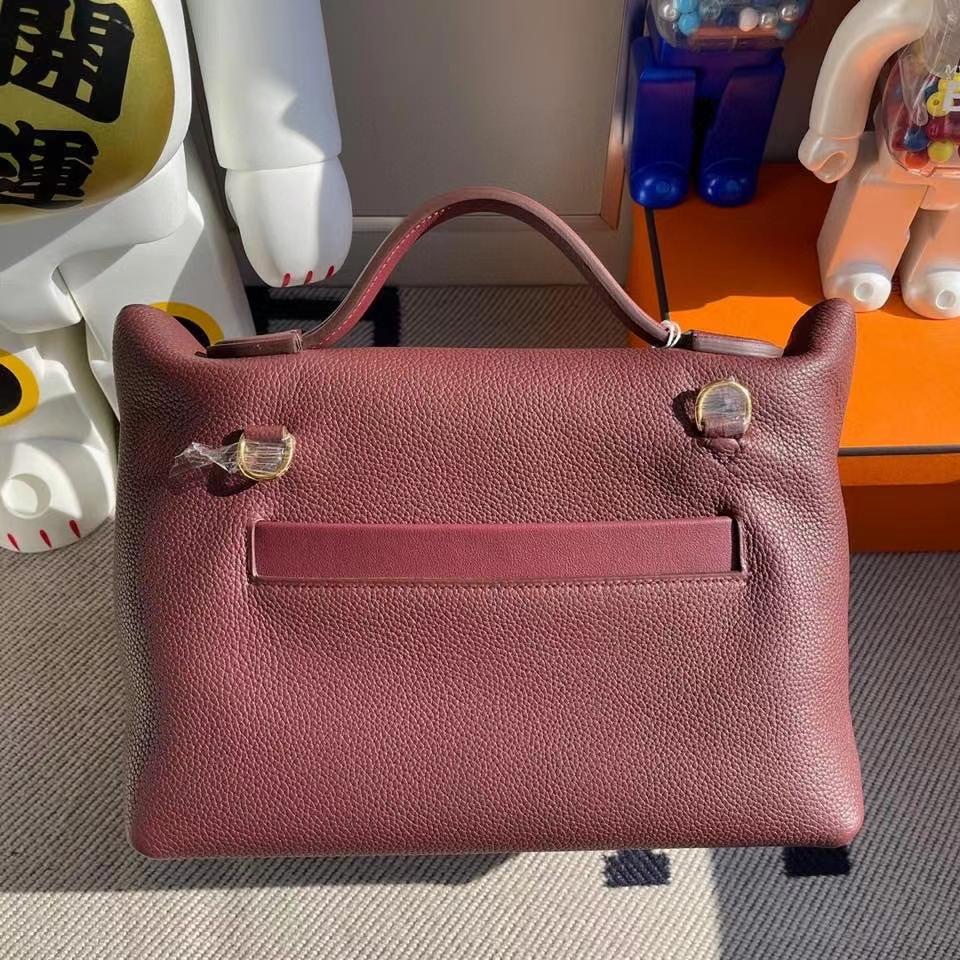 Hermès(爱马仕)2424 29cm 爱马仕红 金扣 顶级手缝 现货