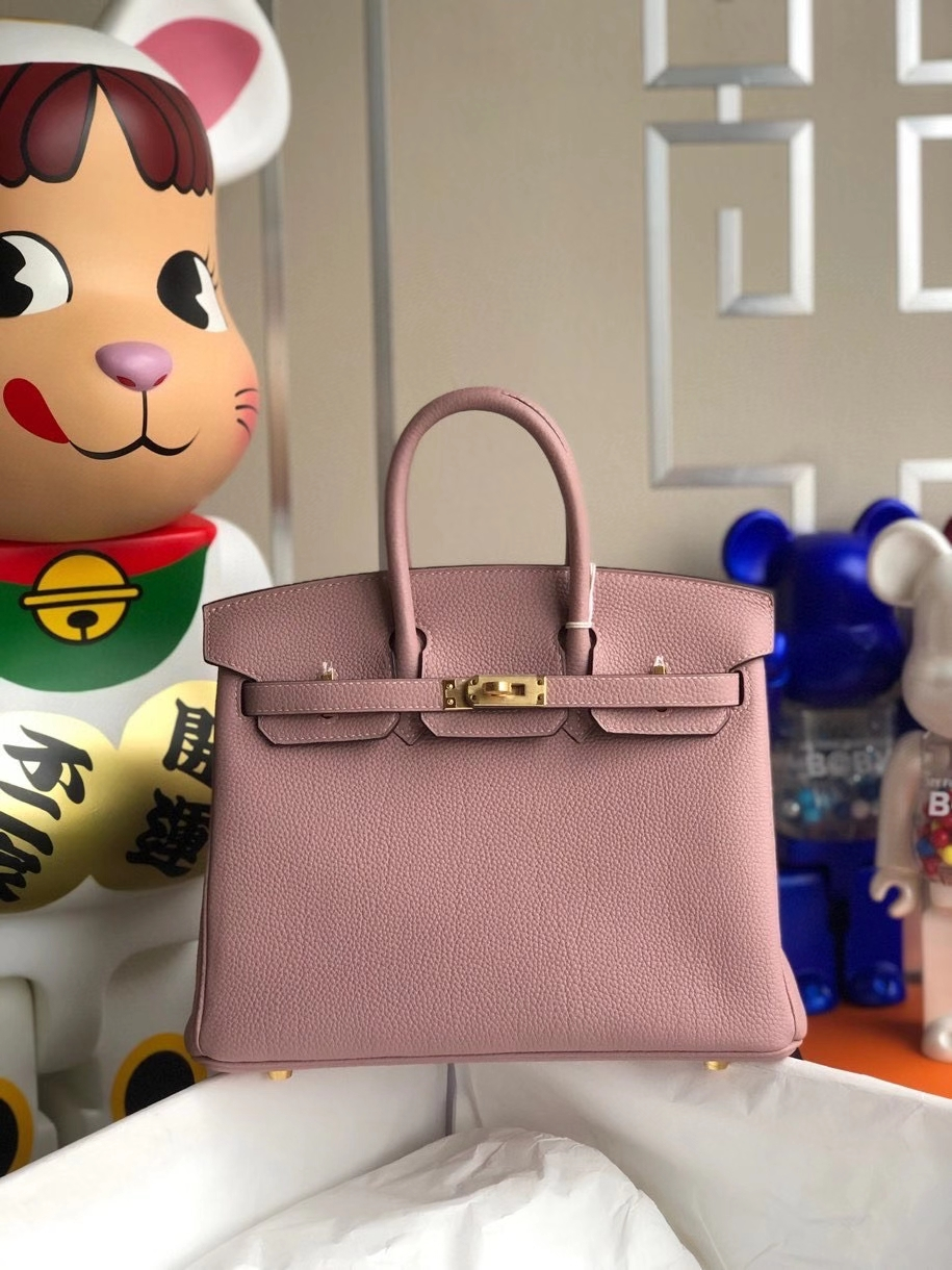 Hermès(爱马仕)Birkin 25cm 原厂小牛皮 4W紫藤色 金扣 顶级手缝 现货