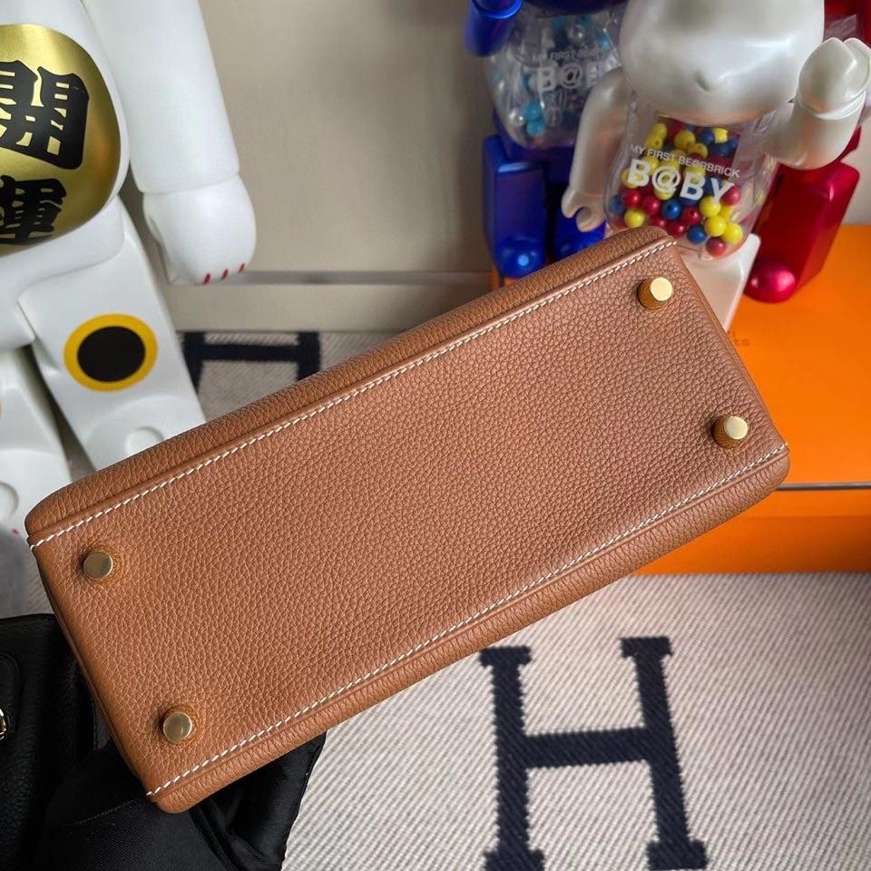 Hermès(爱马仕)Kelly 25cm 原厂小牛皮 togo ck37 金棕色 Gold 金扣 顶级手缝 现货