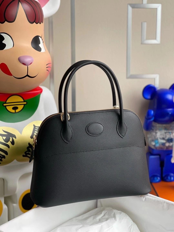 Hermès(爱马仕)Bolide 27cm Epsom Ck89黑色 顶级工艺 全手工缝制 金扣