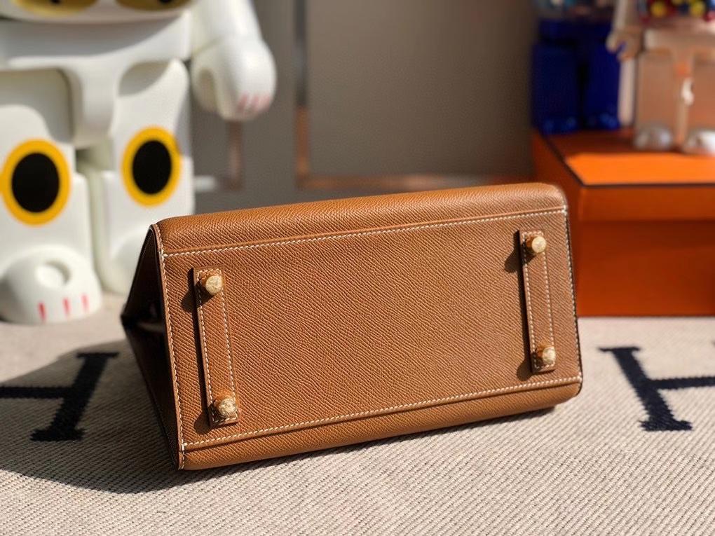Hermès(爱马仕)Birkin 25cm Epsom 原厂掌纹皮 外缝 ck37金棕色 Gold 金扣 顶级手缝 定制