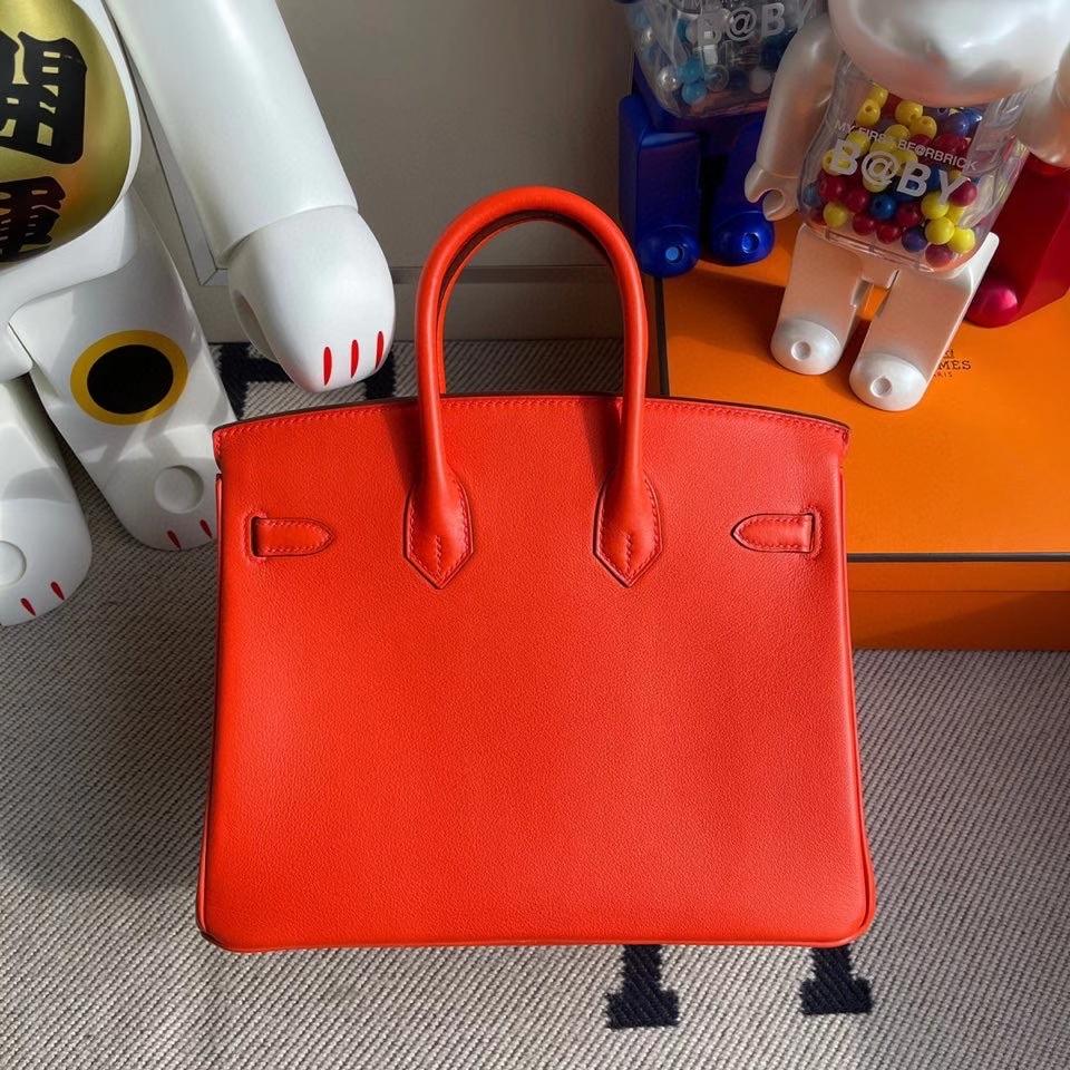 Hermès(爱马仕)Birkin 25cm Swift  火焰橙 金扣 顶级手缝 现货
