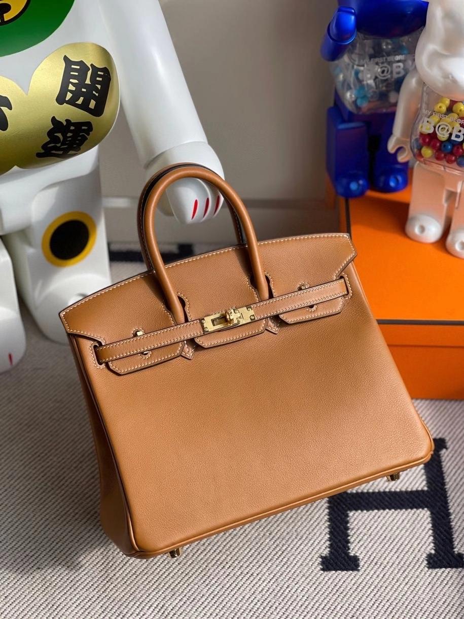Hermès(爱马仕)Birkin 25cm Swift  ck37 金棕色 gold 金扣 顶级手缝 现货