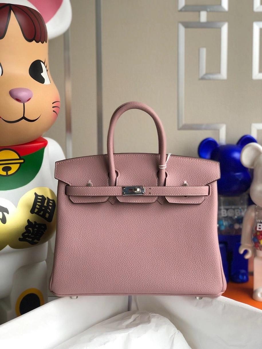 Hermès(爱马仕)Birkin 25cm 原厂小牛皮 4W紫藤色 银扣 顶级手缝 现货
