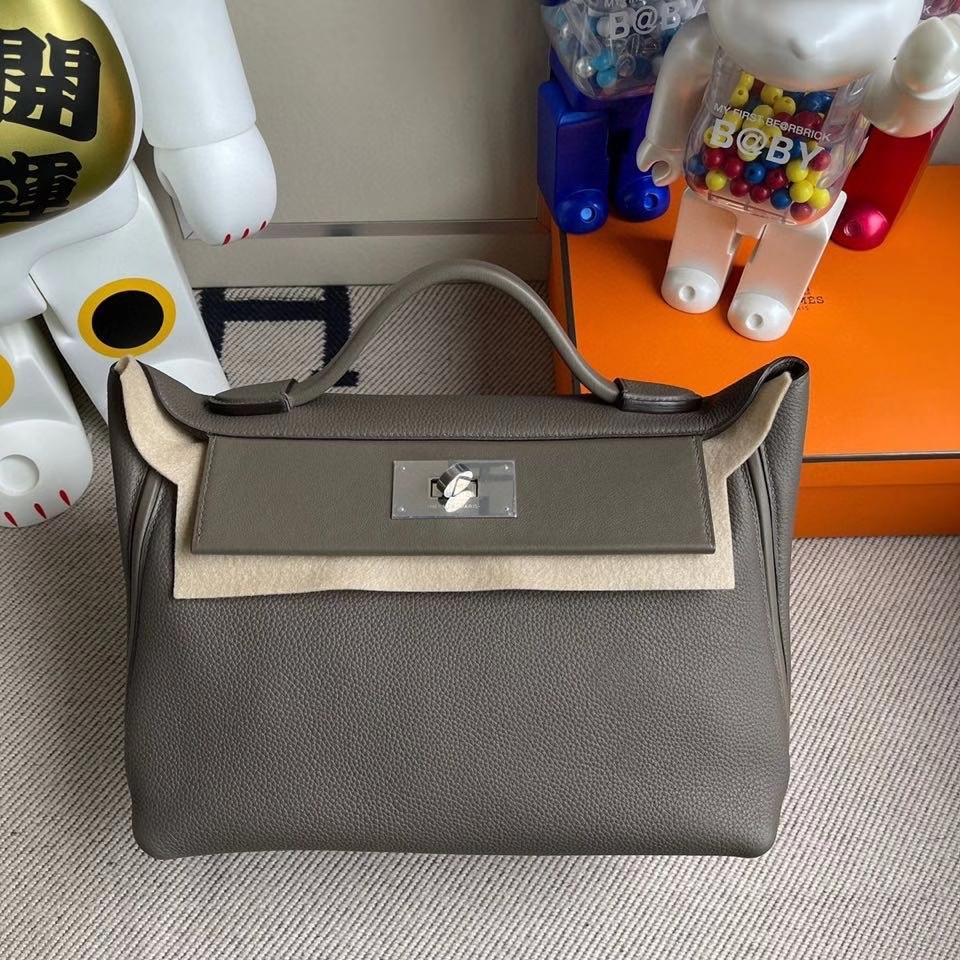 Hermès(爱马仕)2424 29cm m8 沥青灰 银扣 顶级手缝 定制