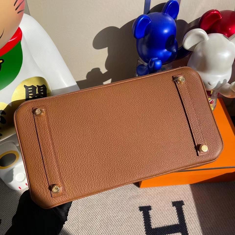 Hermès(爱马仕)Birkin 30cm Touch 系列 金棕色 雾面方块棕色鳄鱼 金扣 顶级手缝 定制