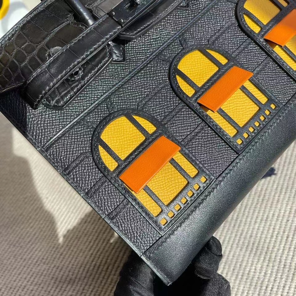 Hermès(爱马仕)Birkin 20cm 小房子 黑色黑扣 so black 限量现货