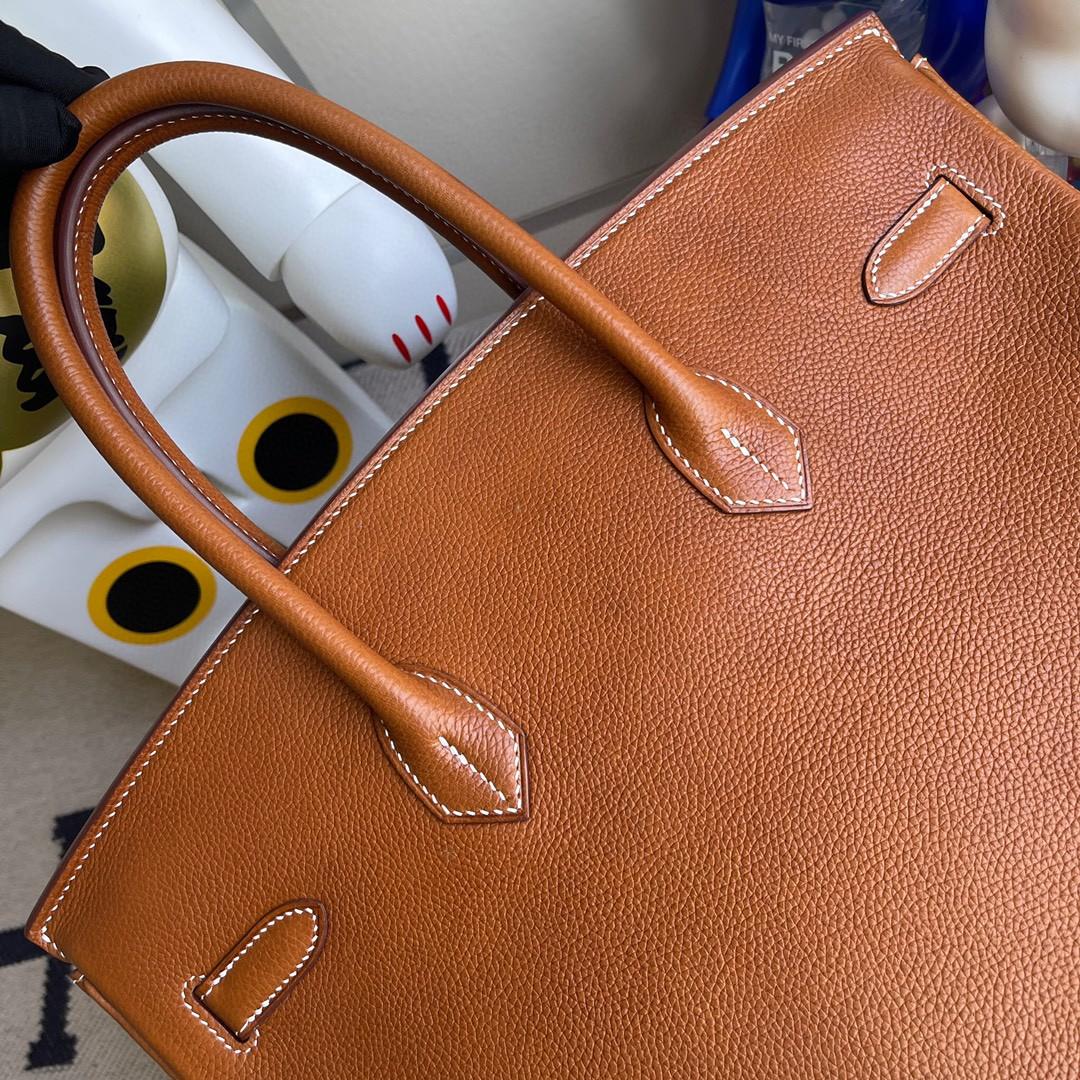 Hermès(爱马仕)Birkin 铂金包 福宝 ck37 金棕色 Gold 银扣 35cm 顶级手缝定制