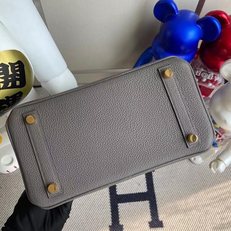 Hermès(爱马仕)Birkin 铂金包 原厂小牛皮 togo 8F 锡器灰 etain 金扣 25cm 顶级手缝