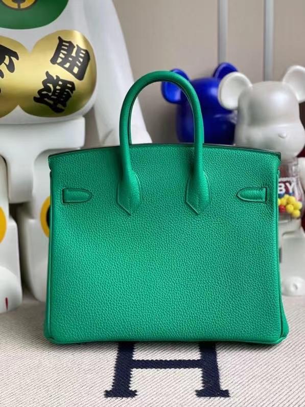 Hermès(爱马仕)Birkin 铂金包 原厂小牛皮 togo 6W Menthe 薄荷绿 银扣 25cm